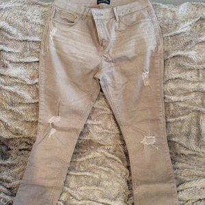 Express size 6 khaki jeans. Like new. Mid rise.